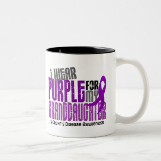 I Wear Purple For Granddaughter 6 Crohn's Disease Two-Tone Coffee Mug