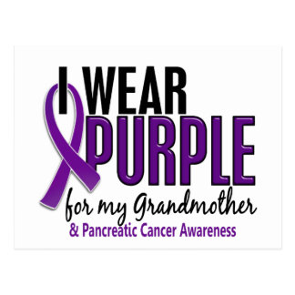 I Wear Purple For Grandmother 10 Pancreatic Cancer Postcard