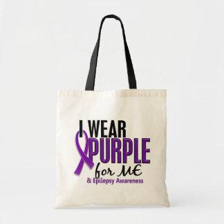 I Wear Purple For ME 10 Epilepsy Budget Tote Bag