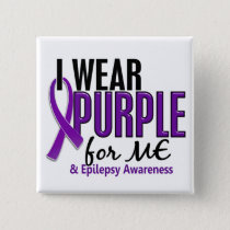 I Wear Purple For ME 10 Epilepsy Button