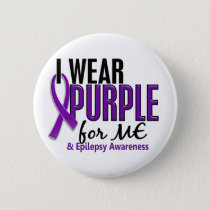I Wear Purple For ME 10 Epilepsy Pinback Button