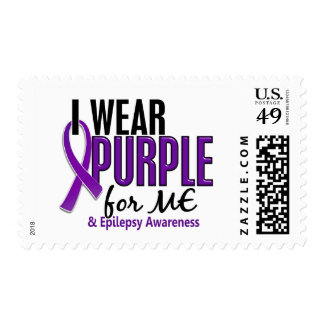 I Wear Purple For ME 10 Epilepsy Stamps