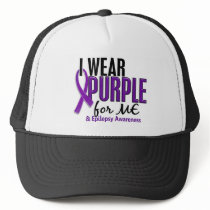 I Wear Purple For ME 10 Epilepsy Trucker Hat