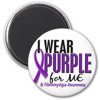 I Wear Purple For ME 10 Fibromyalgia 2 Inch Round Magnet