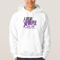 I Wear Purple For ME 10 Fibromyalgia Hoodie