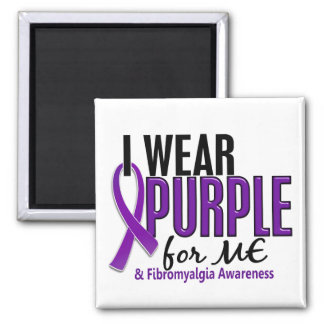 I Wear Purple For ME 10 Fibromyalgia 2 Inch Square Magnet