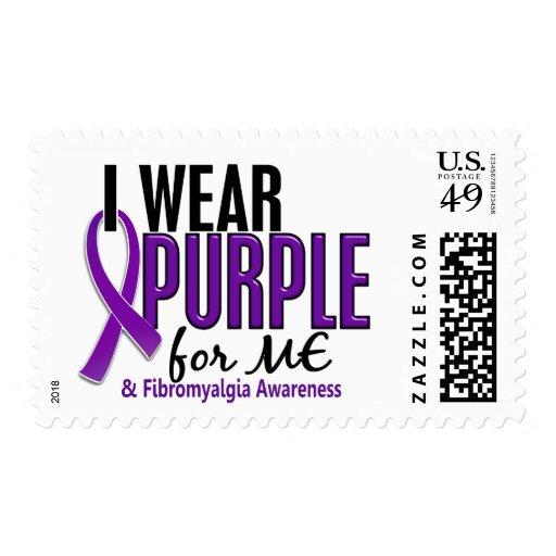 I Wear Purple For ME 10 Fibromyalgia Postage Stamps