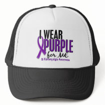 I Wear Purple For ME 10 Fibromyalgia Trucker Hat