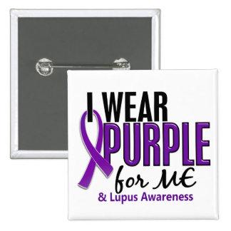 I Wear Purple For ME 10 Lupus 2 Inch Square Button