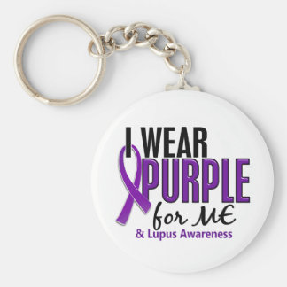 I Wear Purple For ME 10 Lupus Basic Round Button Keychain