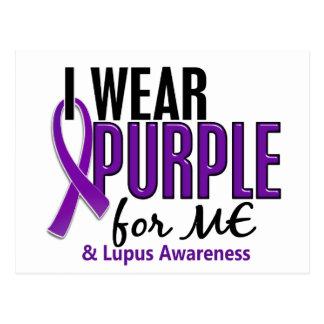 I Wear Purple For ME 10 Lupus Postcard