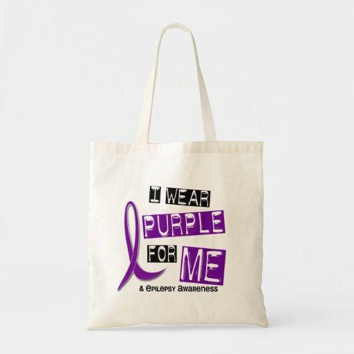I Wear Purple For Me 37 Epilepsy Canvas Bags