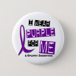I Wear Purple For Me 37 Epilepsy Pinback Button