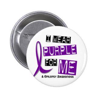 I Wear Purple For Me 37 Epilepsy Pinback Button
