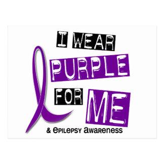 I Wear Purple For Me 37 Epilepsy Postcard
