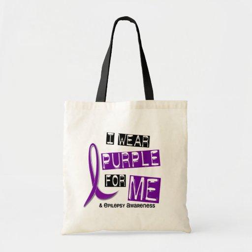 I Wear Purple For Me 37 Epilepsy Tote Bags