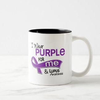 I Wear Purple For Me 42 Lupus Two-Tone Coffee Mug