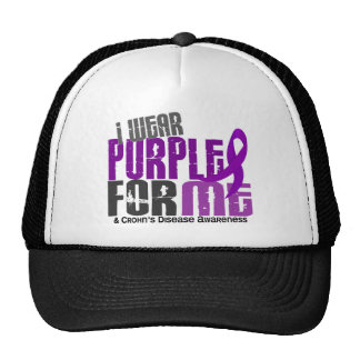 I Wear Purple For ME 6 Crohn's Disease Trucker Hat