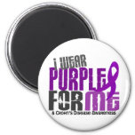 I Wear Purple For ME 6 Crohn's Disease Refrigerator Magnets