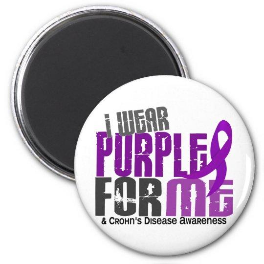 I Wear Purple For ME 6 Crohn's Disease Magnet