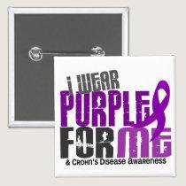 I Wear Purple For ME 6 Crohn's Disease Pinback Button
