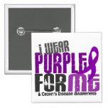 I Wear Purple For ME 6 Crohn's Disease Pins