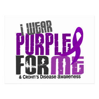 I Wear Purple For ME 6 Crohn's Disease Postcard