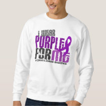 I Wear Purple For ME 6 Crohn's Disease Sweatshirt