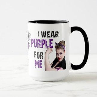 I wear Purple for ME Mug