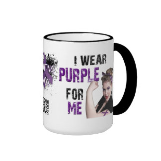 I wear Purple for ME Ringer Mug