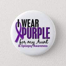 I Wear Purple For My Aunt 10 Epilepsy Button