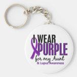 I Wear Purple For My Aunt 10 Lupus Key Chain