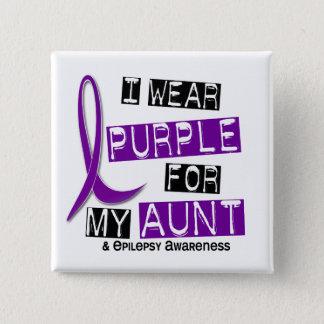 I Wear Purple For My Aunt 37 Epilepsy Button