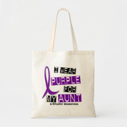 I Wear Purple For My Aunt 37 Epilepsy Tote Bag