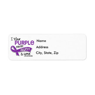 I Wear Purple For My Aunt 42 Lupus Label