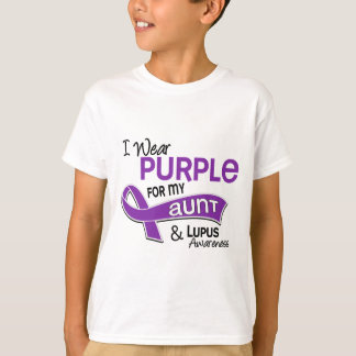 I Wear Purple For My Aunt 42 Lupus T-Shirt