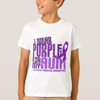I Wear Purple For My Aunt 6.4 Cystic Fibrosis T-Shirt