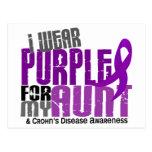 I Wear Purple For My Aunt 6 Crohn's Disease Postcard