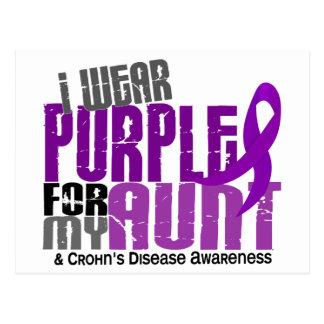 I Wear Purple For My Aunt 6 Crohn's Disease Postcards