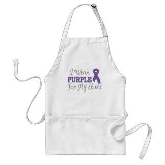 I Wear Purple For My Aunt (Purple Ribbon) Adult Apron
