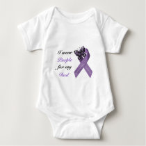 I wear purple for my .... baby bodysuit