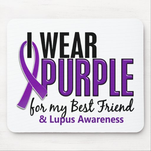 I Wear Purple For My Best Friend 10 Lupus Mousepad