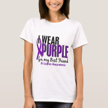 I Wear Purple For My Best Friend 10 Lupus T-Shirt