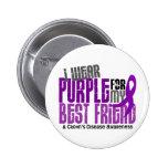 I Wear Purple For My Best Friend 6 Crohn's Disease 2 Inch Round Button