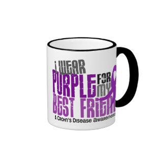 I Wear Purple For My Best Friend 6 Crohn's Disease Ringer Coffee Mug