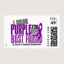 I Wear Purple For My Best Friend 6 Crohn's Disease Postage