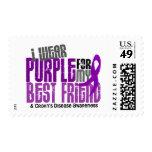 I Wear Purple For My Best Friend 6 Crohn's Disease Postage Stamp