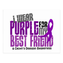 I Wear Purple For My Best Friend 6 Crohn's Disease Postcard