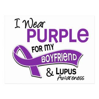 I Wear Purple For My Boyfriend 42 Lupus Postcard