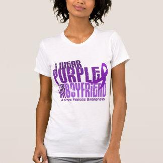 I Wear Purple For My Boyfriend 6.4 Cystic Fibrosis T-Shirt